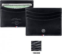 Line D Credit Card Holder – Black Contraste