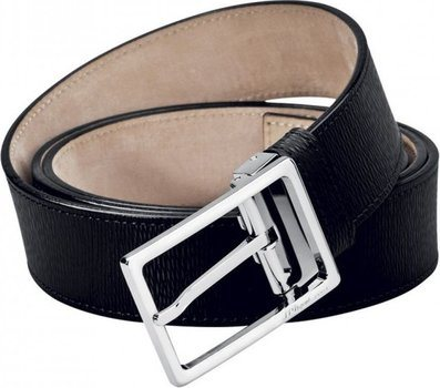 Line D Belt Black Contraste Leather