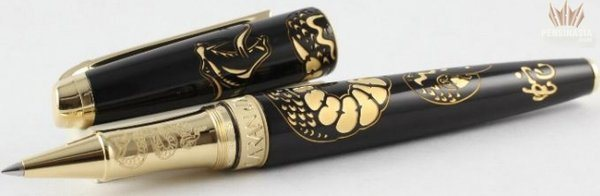 Caran d'Ache Limited Edition Snake Rollerball Pen Gold-Plated