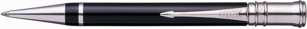 Parker Duofold Twist Mechanism Ballpoint Pen Black Palladium