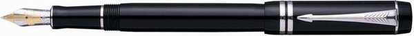 Parker Duofold Fountain Pen International Black / Palladium Trim