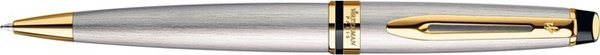 Waterman Expert Ballpoint Brushed Stainless Steel Gold Trim