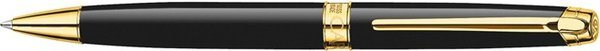Caran d'Ache Léman Twist Mechanism Ballpoint Pen Ebony Black / Gold Trim