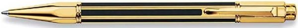 Caran d'Ache Varius China Black Retractable Ballpoint Gold Trim