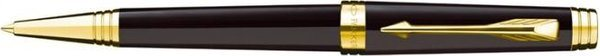Parker Premier Twist Mechanism Ballpoint Lacquer Deep Black Gold Trim