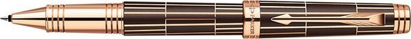 Parker Premier Rollerball Pen Brown / Chiselled / Pink Gold