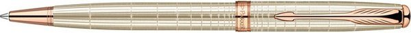 Parker Sonnet Twist Ballpoint Pen Sterling Silver Chiselled / Pink Gold Trim
