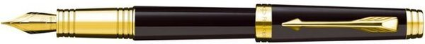Parker Premier Fountain Pen Deep Black Lacquer / Gold Trim