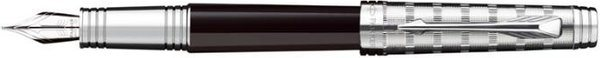 Parker Premier Fountain Pen Tartan Chiselled / Black Lacquer