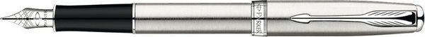 Parker Sonnet Fountain Pen Brushed Stainless Steel / Palladium Trim