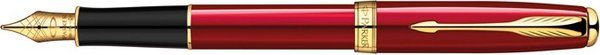 Parker Sonnet Fountain Pen Red Lacquer / Gold Trim