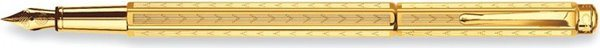 Caran d'Ache Ecridor Chevron Fountain Pen Gold Guilloche